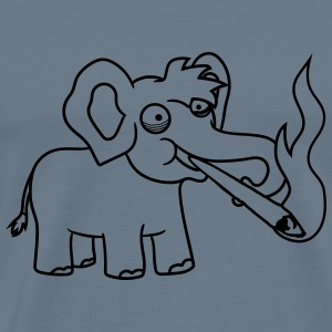 Happy elephant small cute cute kiffer kiffen smoki T-Shirts - Men's Premium T-Shirt