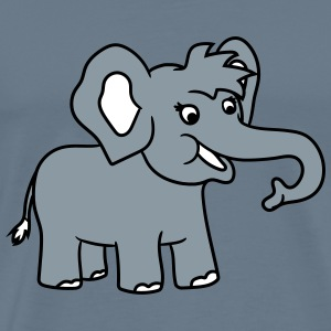 Happy elephant cute sweet cute baby child offsprin T-Shirts - Men's Premium T-Shirt