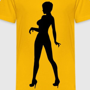 Woman in heels 3 - Kids' Premium T-Shirt