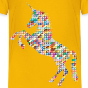 Prismatic Scales Unicorn Silhouette - Kids' Premium T-Shirt