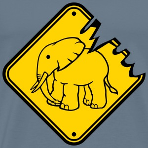 Go sleaze run small elephant funny comic cartoon f T-Shirts - Men's Premium T-Shirt