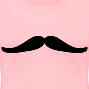 Mustache Optimized - Women's Premium T-Shirt