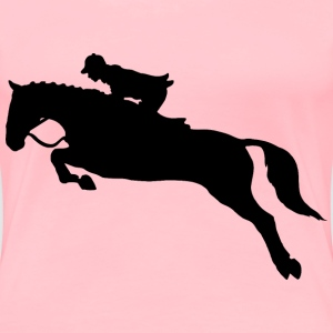Horse Jumping Dressage Silhouette Without Hurdle - Women's Premium T-Shirt
