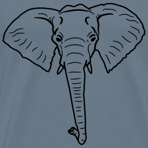 Elephant head face painted T-Shirts - Men's Premium T-Shirt