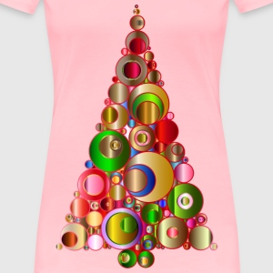 Colorful Abstract Circles Christmas Tree 2 - Women's Premium T-Shirt