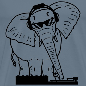 Elephant dj party mixing board scratch celebrate m T-Shirts - Men's Premium T-Shirt