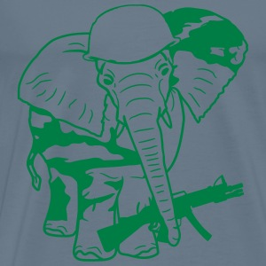 Elephant army army weapon war camouflage machine g T-Shirts - Men's Premium T-Shirt