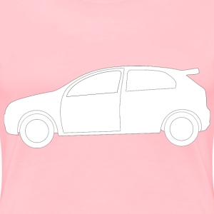 Rally Car Side View Shape - Women's Premium T-Shirt