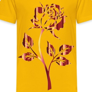 Polished Bronze Rose Silhouette No Background - Kids' Premium T-Shirt