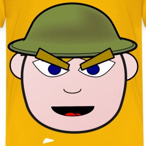 Angry Soldier Boy - Kids' Premium T-Shirt
