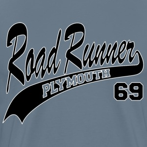 69 Road Runner - White Outline - Men's Premium T-Shirt
