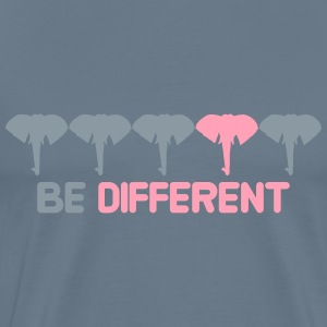 Be different gay gay pink pink different pattern s T-Shirts - Men's Premium T-Shirt