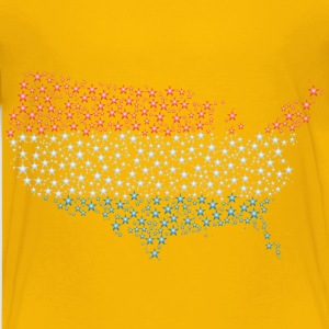 United States Map Flag Stars Enhanced - Kids' Premium T-Shirt