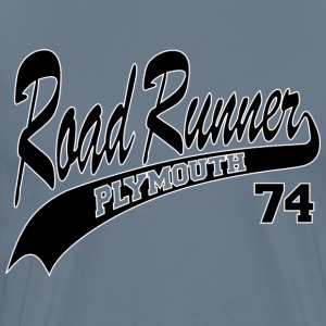 74 Road Runner - White Outline - Men's Premium T-Shirt