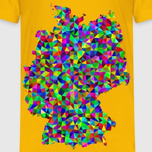 Prismatic Low Poly Germany Map - Kids' Premium T-Shirt