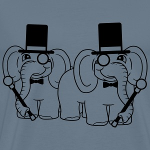 2 friends team couple sir gentlemen gentleman must T-Shirts - Men's Premium T-Shirt