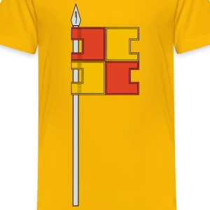 Flag and pole - Kids' Premium T-Shirt