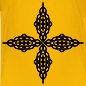 Interlocking Geometric Cross - Kids' Premium T-Shirt
