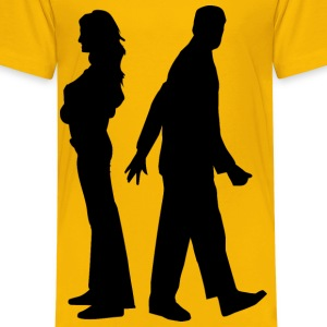 Fighting Couple Silhouette - Kids' Premium T-Shirt