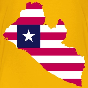 Liberia Flag Map - Kids' Premium T-Shirt