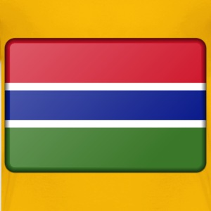 Gambia flag (bevelled) - Kids' Premium T-Shirt