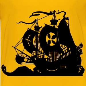 Ship silhouette Weather vane - Kids' Premium T-Shirt