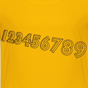 Numbers 1 9 - Kids' Premium T-Shirt
