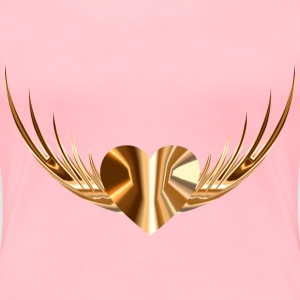 Flying Heart 6 - Women's Premium T-Shirt