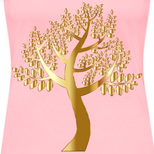 Simple Gold Tree Without Background - Women's Premium T-Shirt