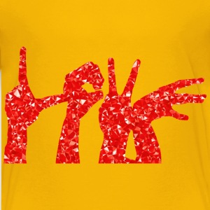 Ruby Love Hands Silhouette - Kids' Premium T-Shirt