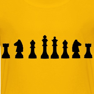 Chess Pieces Lineup - Kids' Premium T-Shirt