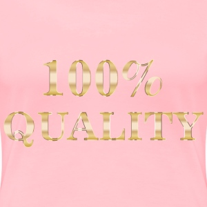 100 Percent Quality Typography No Background - Women's Premium T-Shirt