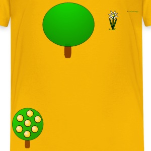 Fruit tree 4, yellow - Kids' Premium T-Shirt