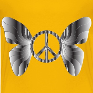 Groovy Peace Sign Butterfly 15 - Kids' Premium T-Shirt