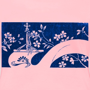 Banner with Sakura - Women's Premium T-Shirt