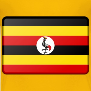 Uganda flag (bevelled) - Kids' Premium T-Shirt