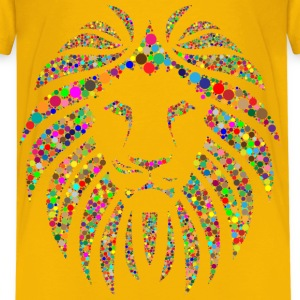 Colorful Lion Circles No Background - Kids' Premium T-Shirt