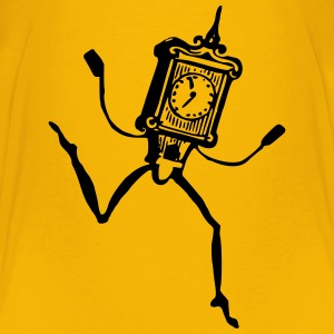 Freaky animated clock - Kids' Premium T-Shirt