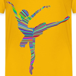 Psychedelic Waves Graceful Ballerina Silhouette - Kids' Premium T-Shirt