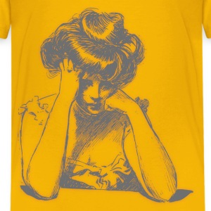 Worried woman 06 Blur - Kids' Premium T-Shirt