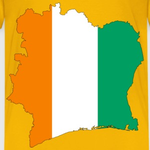 Ivory Coast Flag Map With Stroke - Kids' Premium T-Shirt