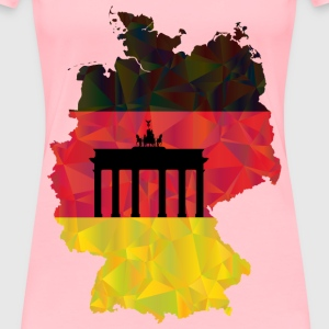 Germany Map Flag 3 - Women's Premium T-Shirt