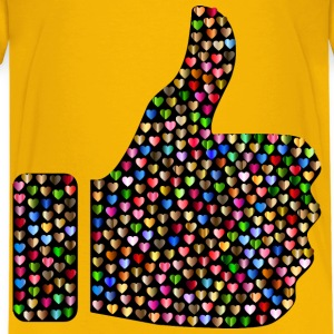 Prismatic Hearts Thumbs Up Silhouette 6 - Kids' Premium T-Shirt