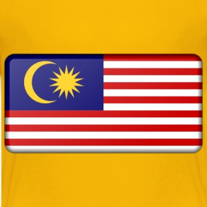 Malaysia flag (bevelled) - Kids' Premium T-Shirt