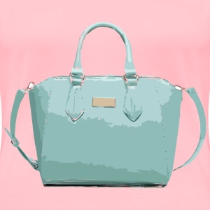 Aqua Leather Handbag No Logo - Women's Premium T-Shirt