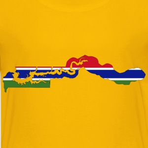 Gambia Flag Map With Stroke - Kids' Premium T-Shirt
