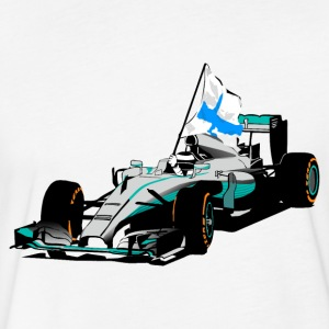 Formula One - Formula 1 - Finland Flag T-Shirts - Fitted Cotton/Poly T-Shirt by Next Level