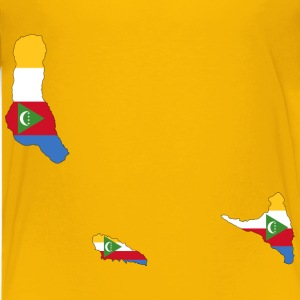 Comoros Flag Map With Stroke - Kids' Premium T-Shirt