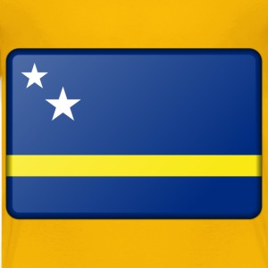 Flag of Curacao (bevelled) - Kids' Premium T-Shirt