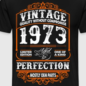 Vintage 1973 Perfection Mostly OEM Parts T-Shirts - Men's Premium T-Shirt